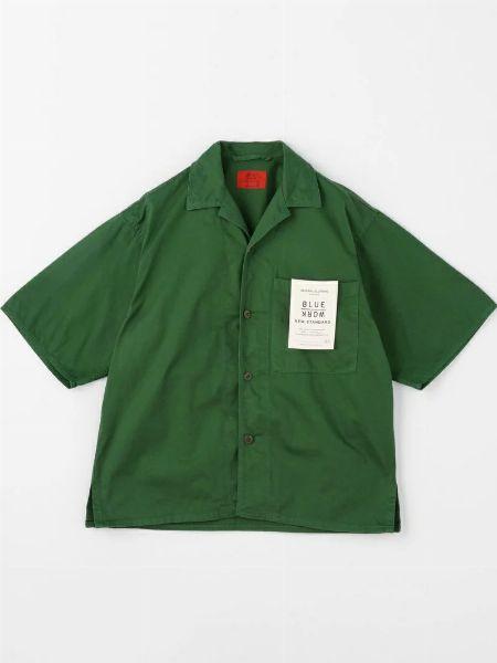 『ブルーワーク』ブロークンツイル オープンカラーシャツ