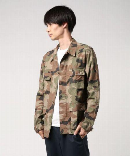 『レミ レリーフ×ビームス プラス』別注 ミリタリーシャツ ジャケット