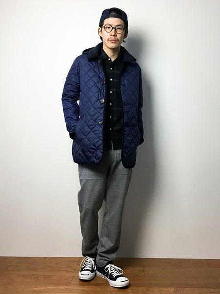 ▼カジュアルスタイルに『ラベンハム』のキルティングジャケットを取り入れた好サンプル