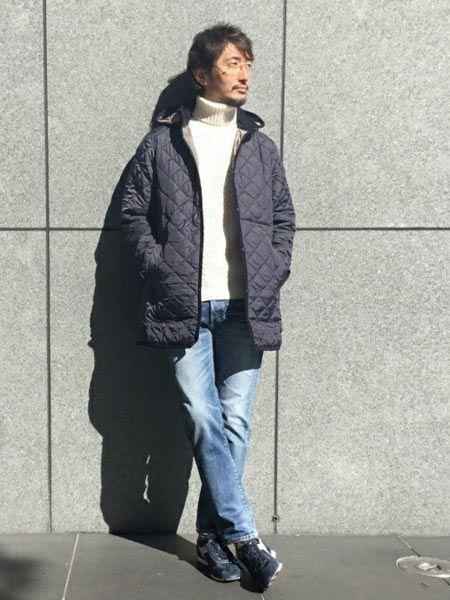 ▼カジュアルスタイルに『ラベンハム』のキルティングジャケットを取り入れた好サンプル 2枚目の画像