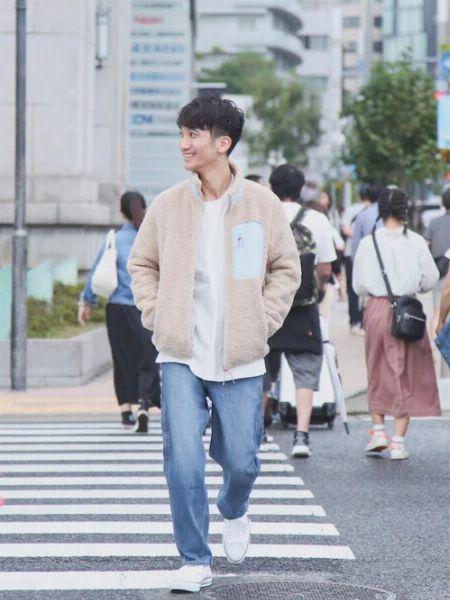 総ボアジャケットを使った着こなしサンプル 3枚目の画像
