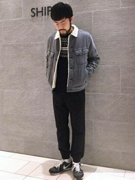 デニムボアジャケットを使った着こなしサンプル 2枚目の画像