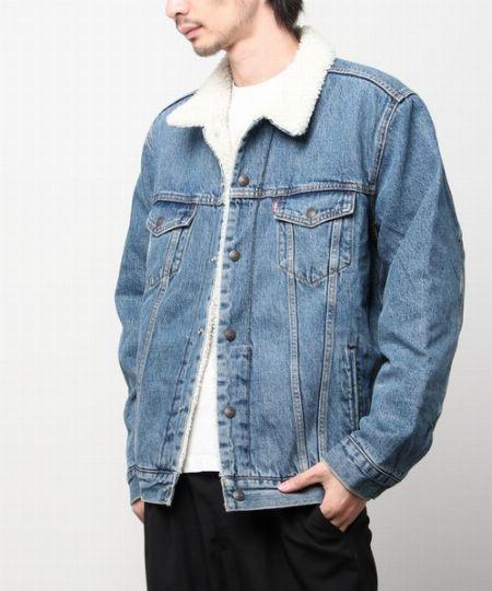 タイプ2:アメカジテイストの色濃いデニムボアジャケット