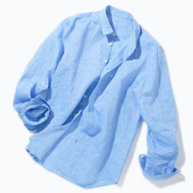 羽織るだけで涼しげ。天然素材のリネンに注目しよう