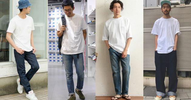 夏の定番。白T×ジーンズをおしゃれに着こなす5つのヒントと15のコーデ