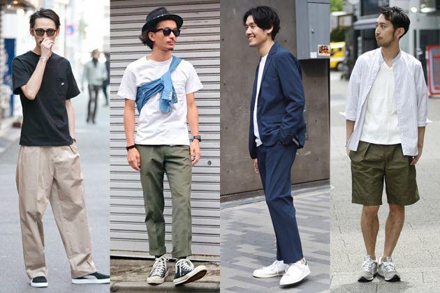 夏もスニーカーコーデ。人気モデル別大人の着こなし見本帳