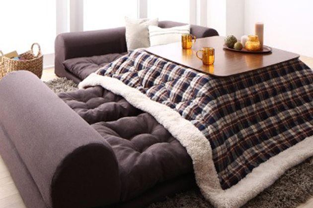 これからは、こたつソファが必需品。ぬくぬくしながらくつろげる環境を作ろう