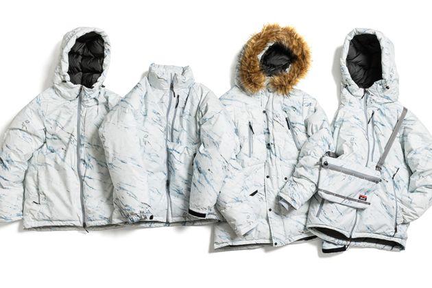 季節感を演出。雪山モチーフの新パターンがナンガの名作を彩る