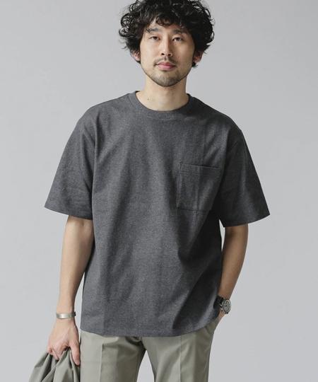 『ナノ・ユニバース』Anti Soaked ヘビークルーネックビッグTシャツ