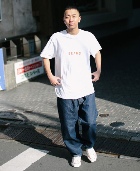 『ビームス』ロゴ Tシャツ 21SS