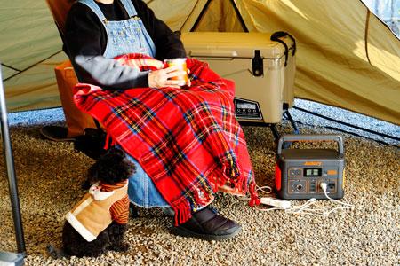 厳寒のキャンプ場でも、暖房器具を安全に気兼ねなく使える!