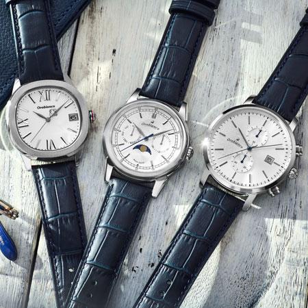 白と青で爽やかな腕元に。夏らしい腕時計が『オロビアンコ』にはある
