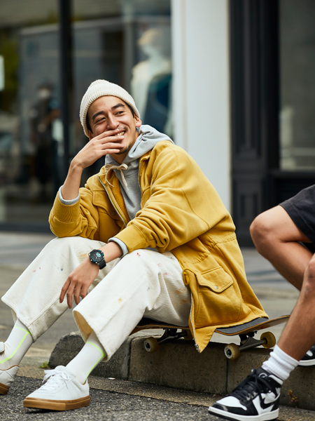 オフの日は、慣れ親しんだストリート服と『Gショック』で自分らしく